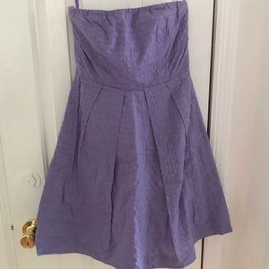 JCrew strapless lavender dress
